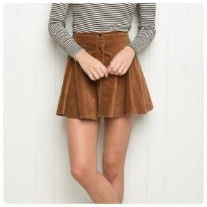 { brandy melville } byra corduroy skater skirt